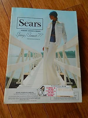 Vintage 1977 SEARS Spring Summer Department Store Catalog Book