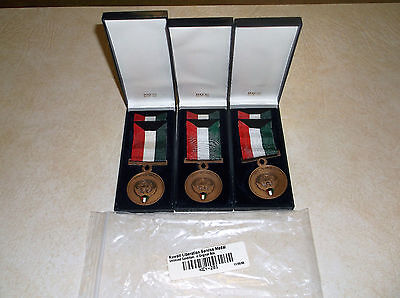 Vintage Authentic KUWAIT LIBERATION UNISSUED SERVICE MEDAL LOT of 3