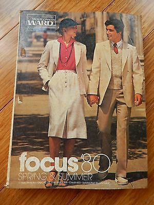 Vintage 1980 Montgomery Ward Spring & Summer Department Store Catalog Book
