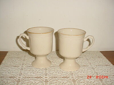 "2-Piece ""classic"" Collection Coffee Mugs/stoneware/japan/gloss/beige/clearance!"