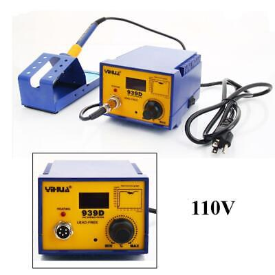 YIHUA 939D 110V 80W Rework Electric SMD ESD Soldering Iron Station Kit w/ Stand