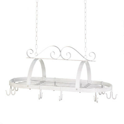 Hanging Pot Rack Ceiling Antique Cast Iron Pot Rack Overhead Scrollwork Pot Rack