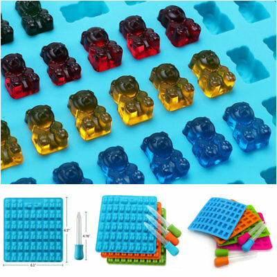 53 Cavity Silicone Gummy Bear Chocolate Mold Candy Maker Ice Tray Jelly Moulds