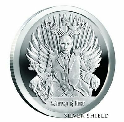 "Trump 1 OZ .999 SILVER SHIELD BU  "" Winter Is Here ""  Putin death of the dollar"