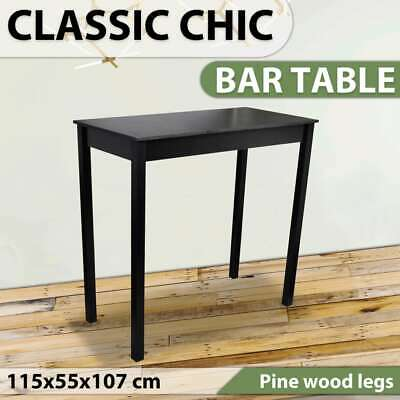 New High Bar Side Table Dining Coffee Kitchen MDF Bedside Outdoor 115x55x107cm