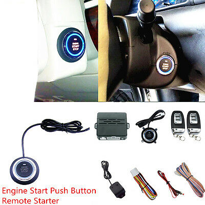 Car Ignition Engine Start Push Button Remote with Alarm System Vibration Alarm