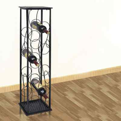 vidaXL Wine Rack for 8 Bottles Metal Cup Storage Cabinet Holder Bar Organiser