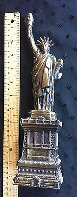 Statue Of Liberty Figurine Cast Metal Souvenir  12.5 Inches High