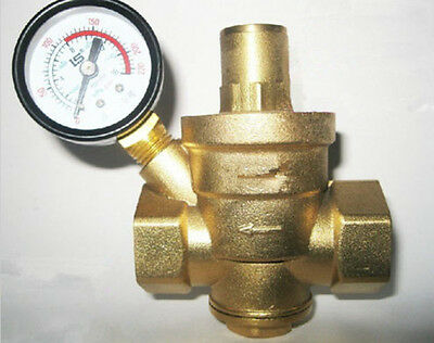 1pc New 1 '' BRASS Water Pressure Reducing VALVE 1'' Bspp with pressure gauge