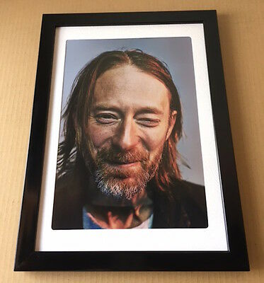 2013 Radiohead Thom Yorke JAPAN magazine photo pinup mini poster FRAMED 12r