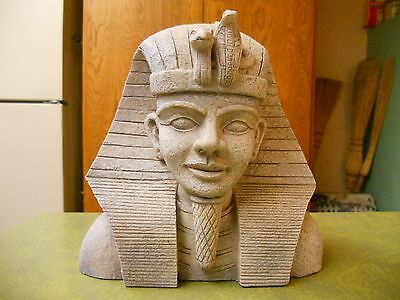 Ceramic King Tut Look nice condition stand table.