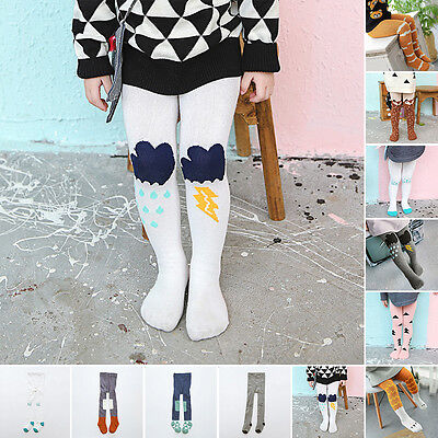 Baby Toddler Kids Girls Cotton Tights Stockings Pantyhose Socks Pants Trousers