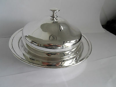 Vintage Silver Welbeck Plate Muffin Dish With Divider By Alex Clarke -  Gleaming