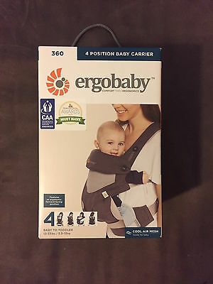 Ergobaby Four Position Cool Air 360 Carrier - Carbon Grey **BRAND NEW**