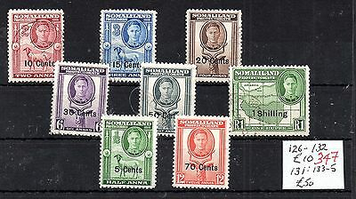 Somaliland KGVI 1951 mint/used collection WS5015