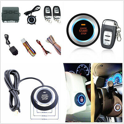 Car Alarm Security Ignition System Engine Start Push Button Remote Control Kit