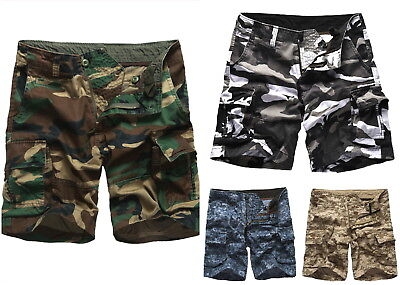 Mens Work Cargo Shorts Army Military Style Outdoor Work Camping Fishing Shorts