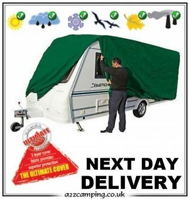 New Green Heavy Duty Kampa Breathable Caravan Winter Summer Cover 23 24 25 Ft