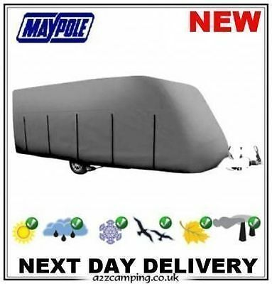 MP9431 14FT MAYPOLE CARAVAN COVER CLASSIC GREY 4 PLY FITS UP TO 4.1M