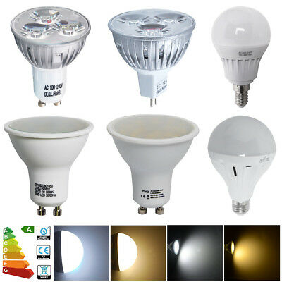 GU10 MR16 E14 E27 4W 5W 6W 12W Warm Day White Spot Light SMD Globe Led Bulb Lamp