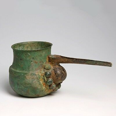 Luristan Bronze Spouted Strainer Vessel