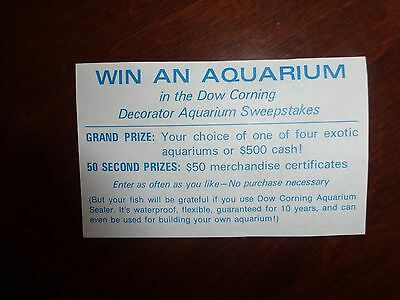 Vintage Contest entry form - Dow Corning