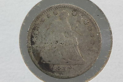 1857 Half Dime G Slight Bend