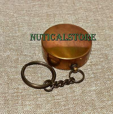 Maritime Handmade Brass Working Pocket Compass Navigation Compass