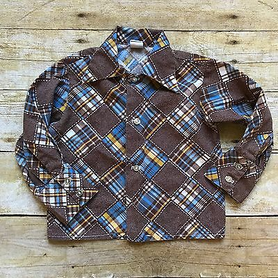 Vintage Jimmy Lane Baby Boys Shirt Retro 1970's Clothing Top Western Hipster 2