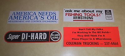 "Vintage Oilfield Bumper  Stickers  From Early  80""s"