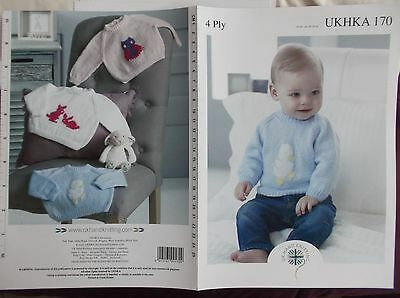 Baby Knitting Pattern 4 Ply  [ UKHKA 170 ]