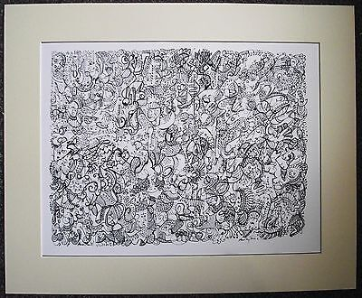 Signed ltd edition A3 giclee doodle print by artist B
