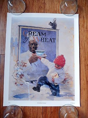 """CREAM of WHEAT """"In His Father's Footsteps"""" E.V.BREWER 1924 16""""x20"""" Poster"""