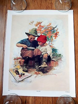 """CREAM of WHEAT """"Fifty-Fifty"""" E.V. BREWER 1923 16"""" x 20"""" Poster"""