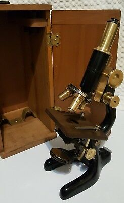 Vintage Bausch & Lomb Opt. Co. Ffs-8 Compound Microscope Pat. Jan 5 1915 #195583