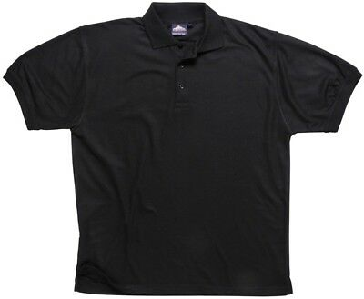 871 Black Naples Polo Shirt Medium B210BKRM Portwest New