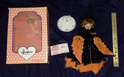 """Effanbee """"Halloween"""" 8.5"""" tall doll. Be a witch or a cat ~ she has both!!"""