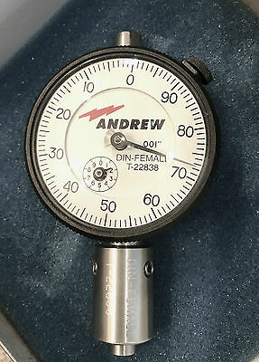Andrew / Federal Type 7/16 7-16 716 DIN Female Coax Pin Depth Dial Gauge