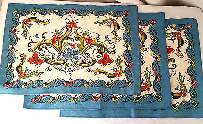 3  LEIF THESEN Placemats Floral Flowers Norse Nordic Oslo NORWAY Norge  010 ETS