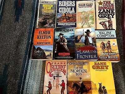 Lot Of 22 Westerns & Mountain Man Books By Various Authors