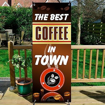 The Best COFFEE BANNER DISPLAY SYSTEM Free Standing, Coffee Sign, BROWN