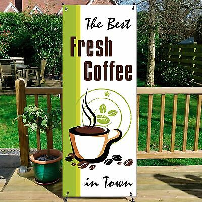 The Best COFFEE BANNER DISPLAY SYSTEM Free Standing, Coffee Sign, GREEN