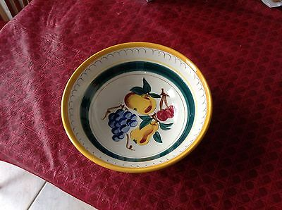 "9-3/4"" Stangl ""Fruit"" Bowl - Brightly Colored - Fruit Motif"