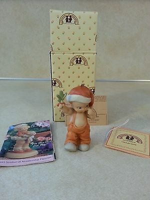 Enesco Event Ornament Signed Memories Of Yesterday How Bout A Little Kiss 1993