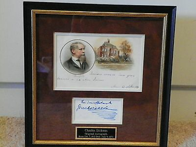 Charles Dickens Signed Autograph - PSA/DNA #Z08380