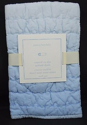 Pottery Barn Baby Kids Coastal Tie Dye Quilted Sham Small Toddler Crib Blue