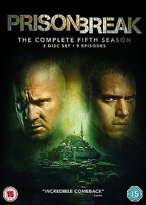 PRISON BREAK: Season 5 * Region 2 UK * Brand New and Sealed * Free Postage