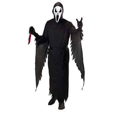 Screaming Ghost Scream Costume Uomo Halloween Tg. S M L Xl