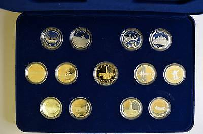 1992 13 coin Canada Silver Quarter Set with Loon Dollar Proof ORIGINAL
