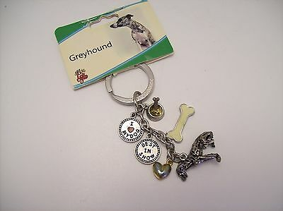 Greyhound key chain by Little gifts - NEW